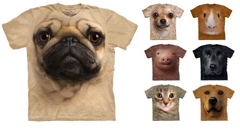 Big Face T-shirts Otroligt effektfullt mot kroppens egna kroppsform :)