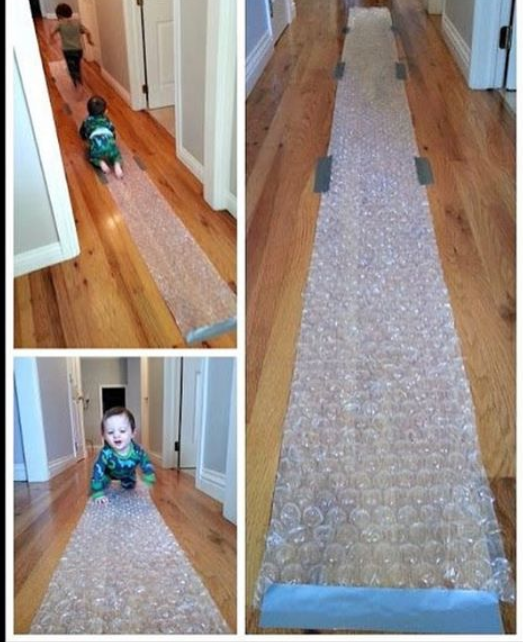 pinterest_diys_and_moreThe bubble wrap run, good for rainy days and stay in days