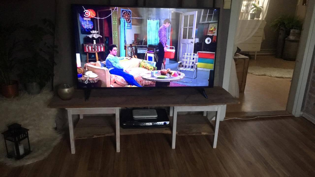 Stolben blir tvbänkben. Bild av Emma Lindberg