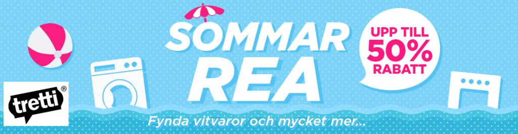 Sommarrea! Upp till 50% rabatt på vitvaror, hushållsapparater och personvård