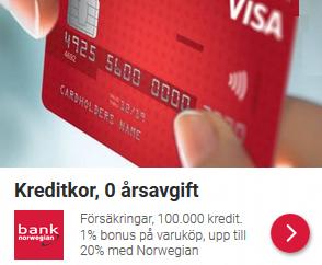 fördelaktigt kreditkort