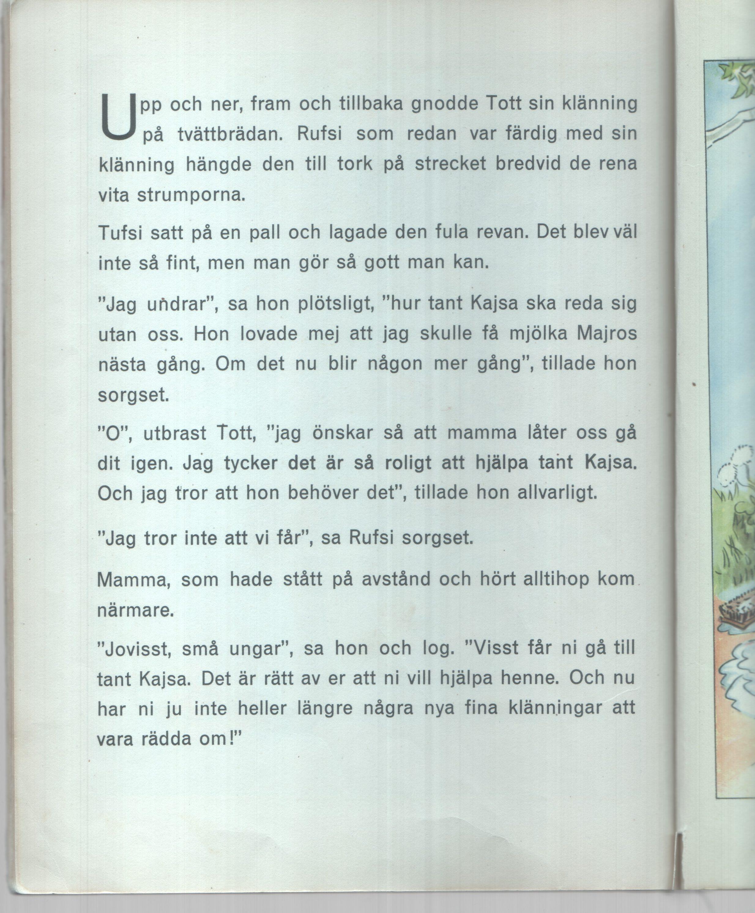 Barnbok av Maj Lindman Esselte AB Stockholm 1945