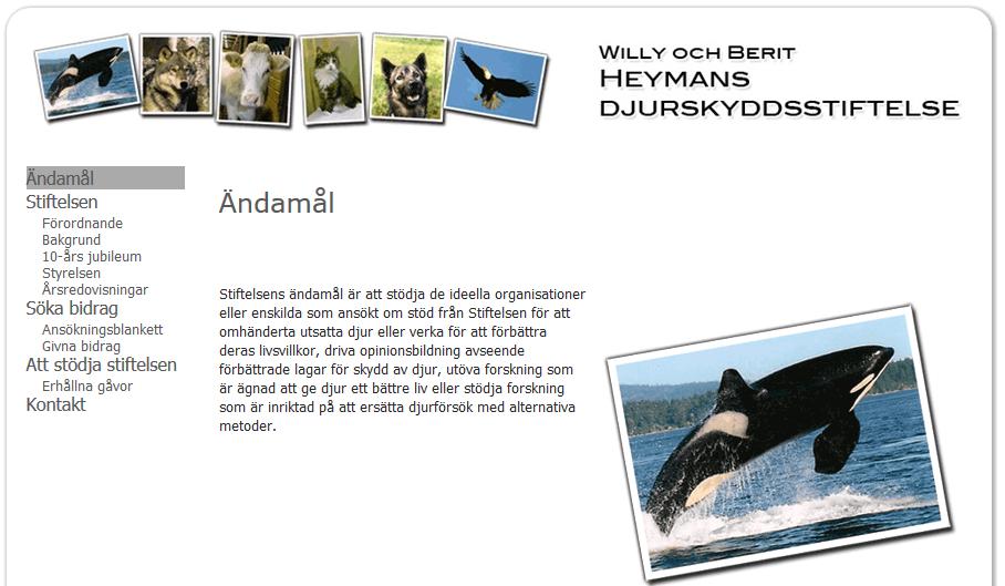 Willy och Berit Heymans djurskyddsstiftelse