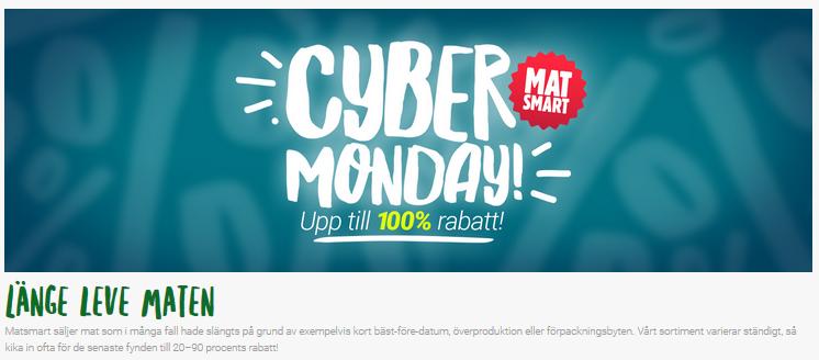Cyber monday på Matsmart