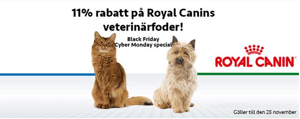 11% rabatt på Royal Canins veterinärfoder
