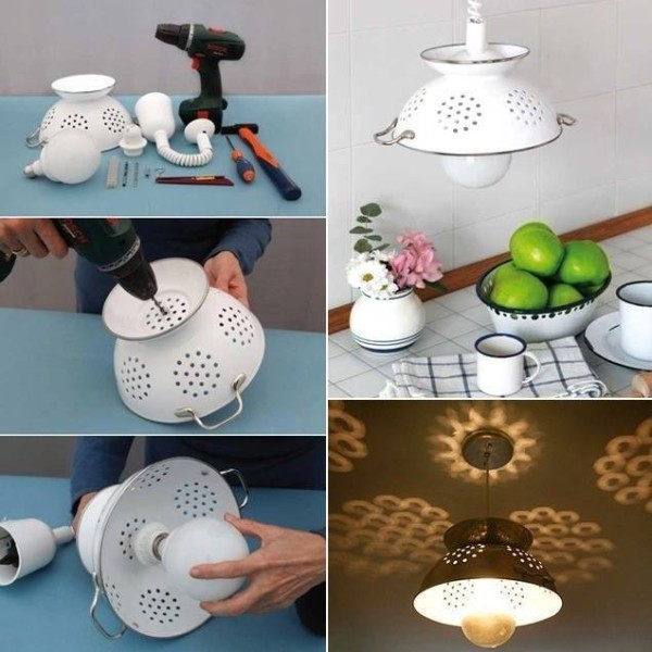 Göra om durkslag till lampa