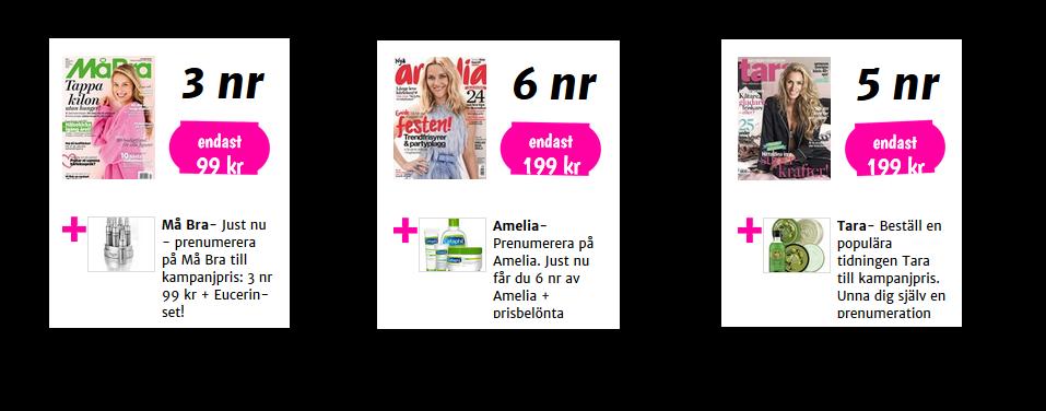 Behöver du hudvårdsprodukter? Passa på nu! Minst fem tidningar har hudvårdsprodukter som gratispremier!