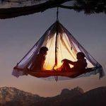 Flytande och hängande tält