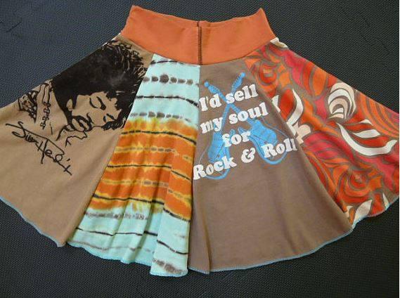 Sy en kjol av gamla t-shirt