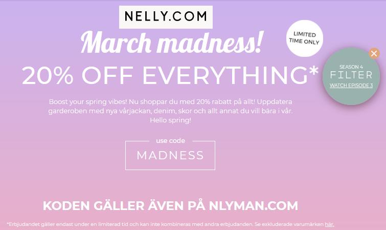 Rabattkod Nelly.com