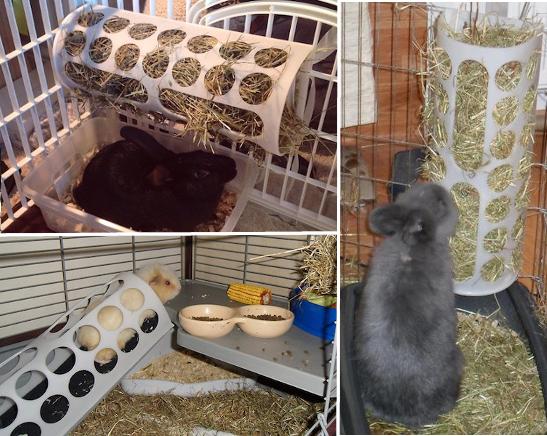 IKEA´s plastpåse-behållare kan användas som kaninutfodring av hö
