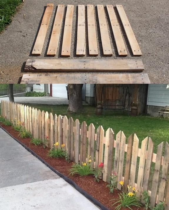 Göra om pallar till staket