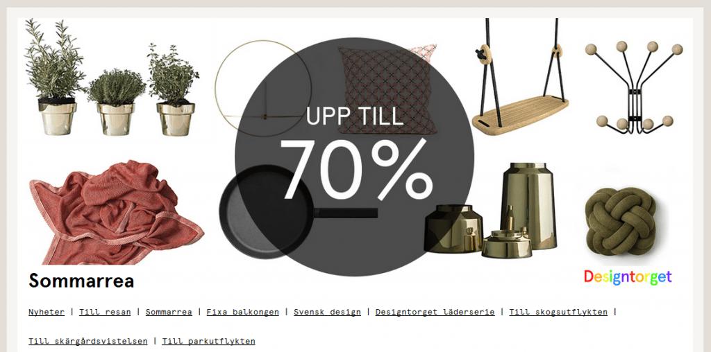 Upp till 70% rabatt hos Designtorget