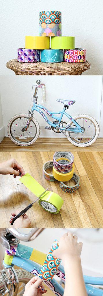 Dekorera barncykeln med duke tape så minskar stöldrisken