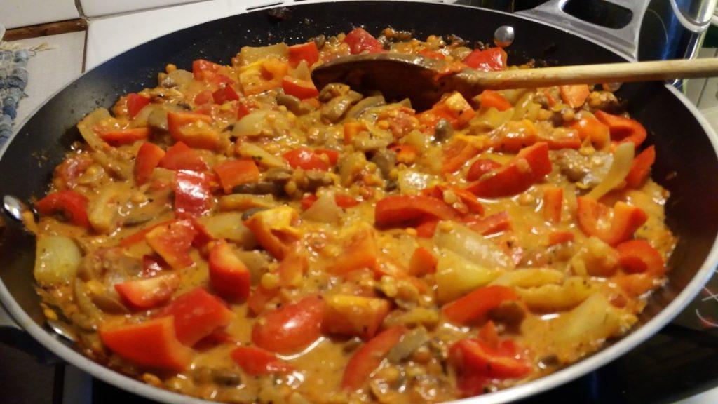 vegatarisk pasta rätt