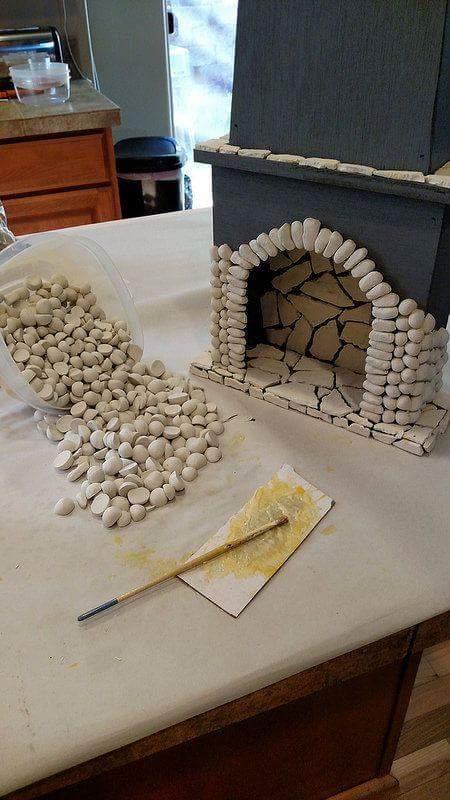 Göra en öppensspis-dekoration