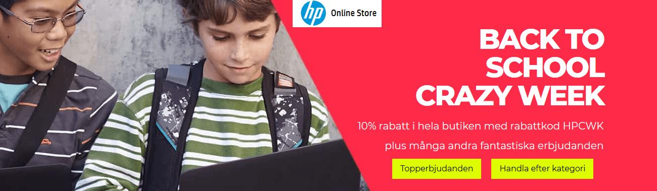 10% rabatt hos Hp dator