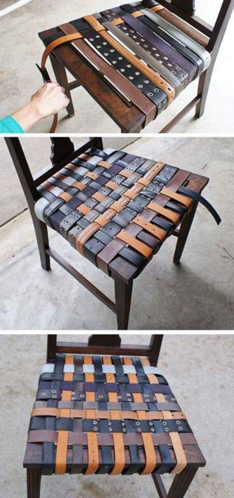 Göra sittunderlägg till stol med skärp
