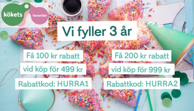 100 - 200 kr rabatt hos Kökets favoriter