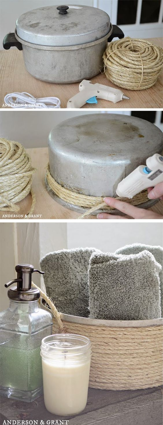 Återbruka en gammal kastrull