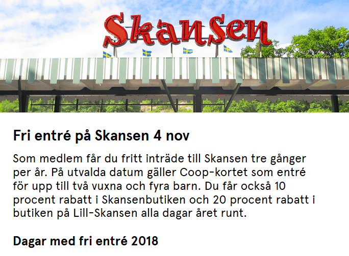 4 nov fri entré till Skansen