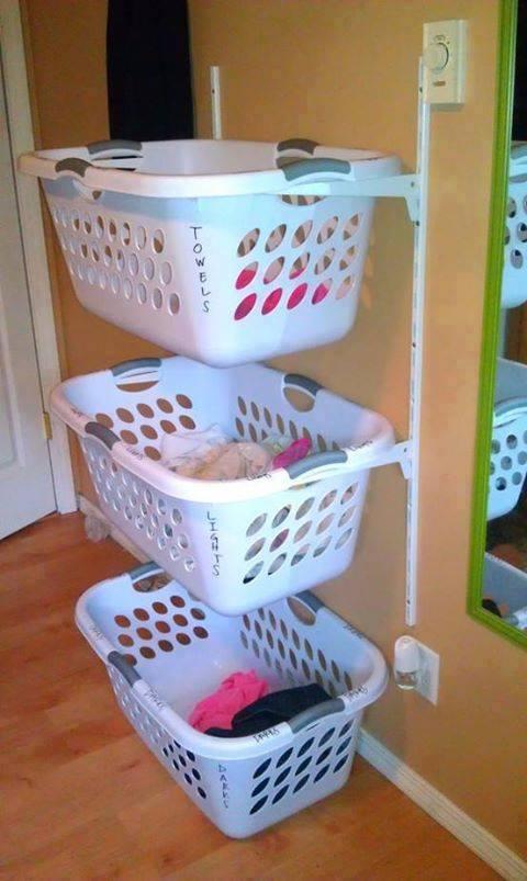Smart och praktisk förvaring av tvätt
