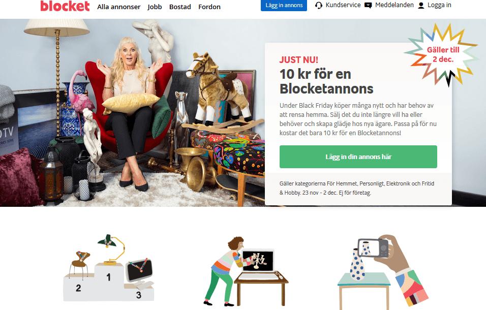 Lägg in en annons på Blocket för endast 10 kr