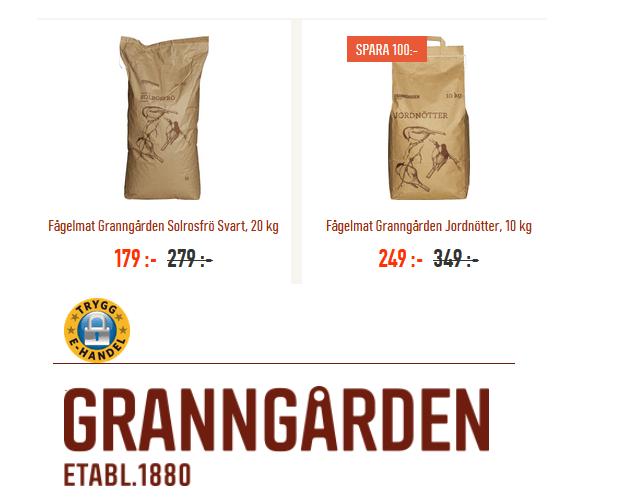 Tips till alla fågelälskare! Svarta solrosfrön och nötter 100 kr billigare!