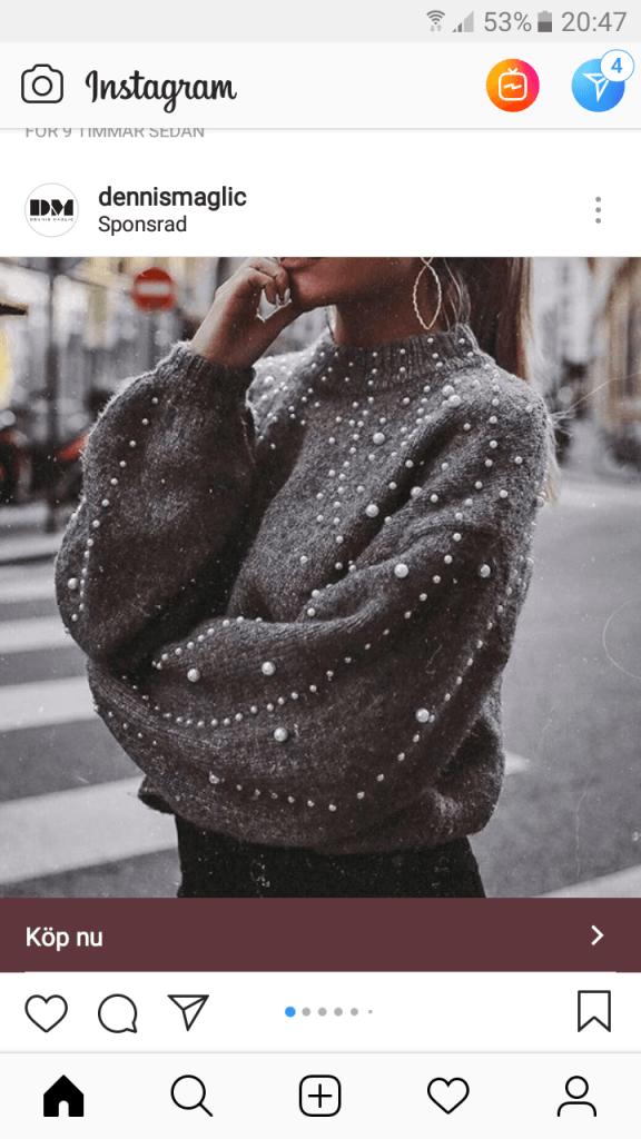Smycka kläder med pärlor