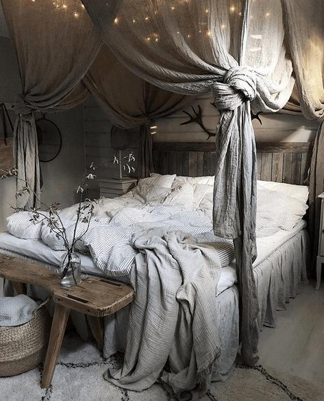 Vilken härlig sänghörna :)