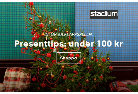 Julklappar under 100 kr på Stadium