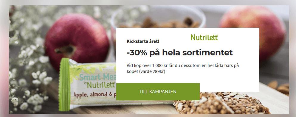 30% rabatt hos Nutrilett