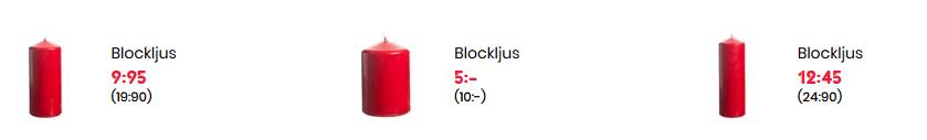 Nu finns billiga blockljus på Rusta!