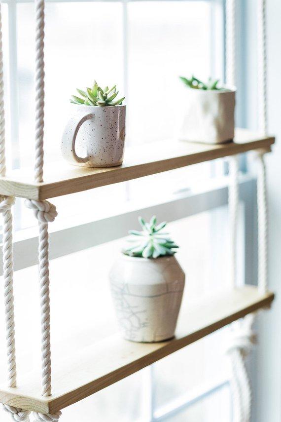 Tillverka hängande hyllor till växterna