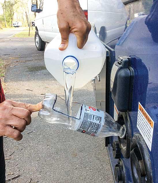 Smart påfyllning av vatten till husvagn när det kniper