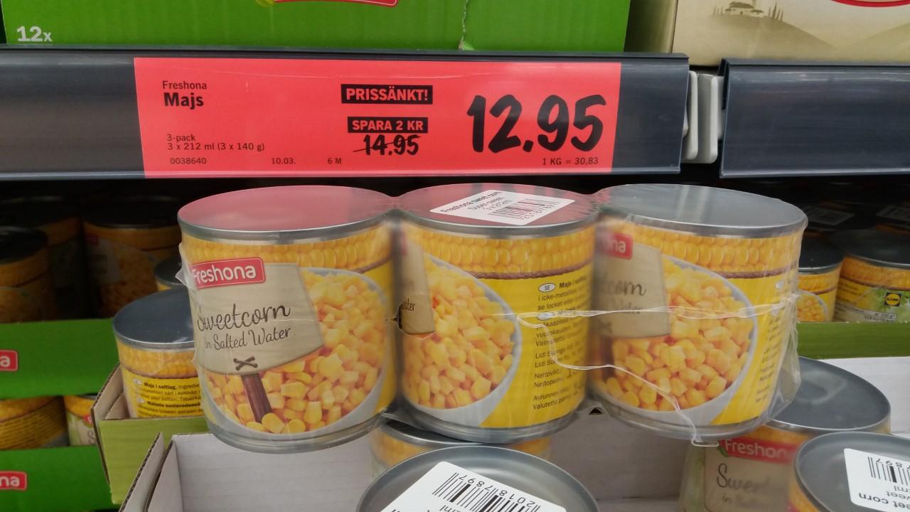 Tips på god och billiga majs på burk