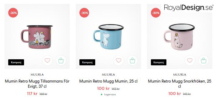 30 % rabatt Mumin retro muggar