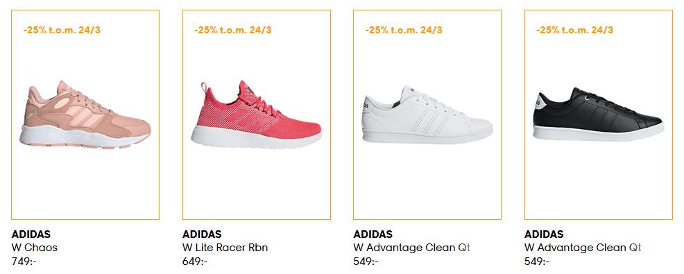 25% rabatt på ADIDAS  sneakers