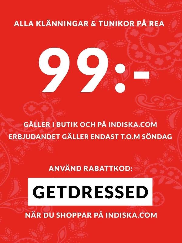Passa på! Alla klänningar och tunikor kostar endast 99 kr t.o.m. söndag!