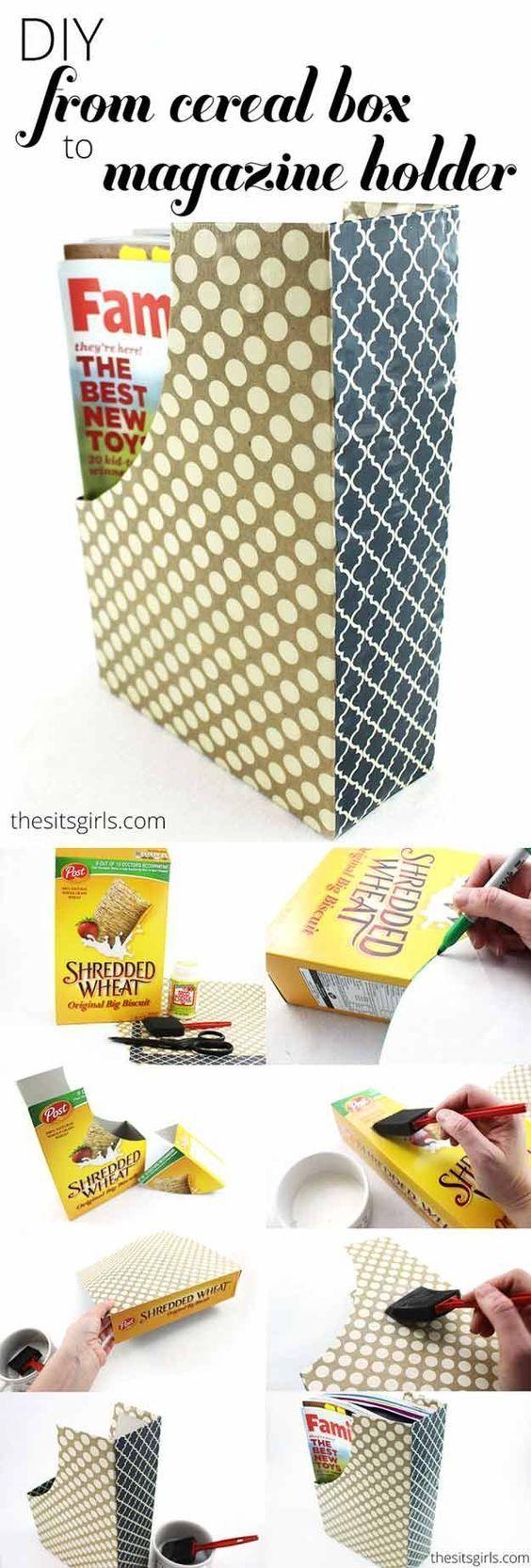 Göra tidskriftssamlare av cornflakespaket