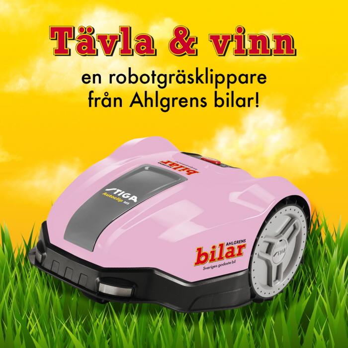 Tävla & vinn en robotgräsklippare från Ahlgrens bilar