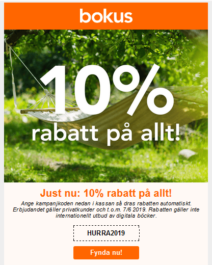 Rabattkod bokus.com
