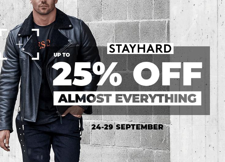 25% rabatt på Stayhard