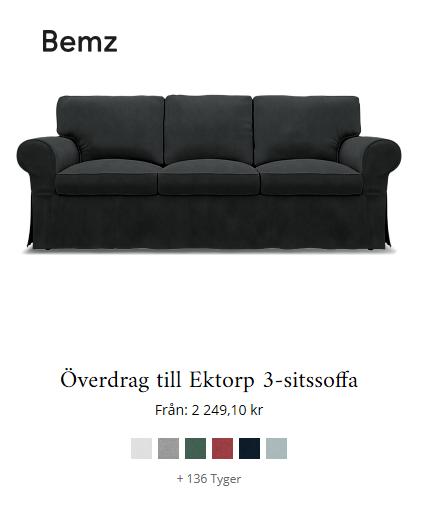 Byt inte soffa! Byt sofföverdrag!