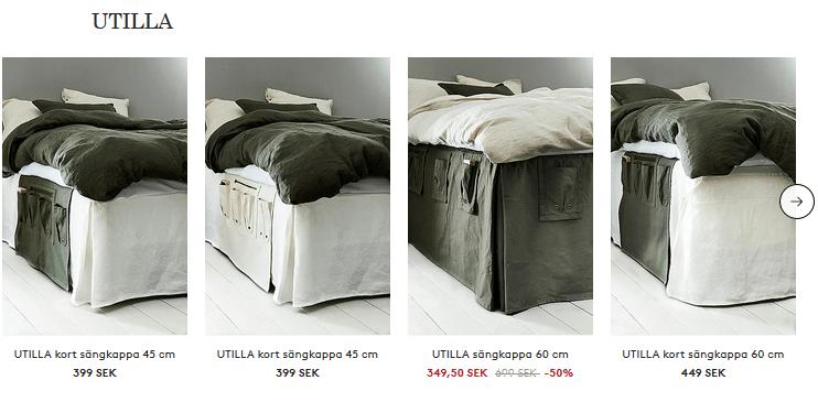 Praktiska sängkappor med förvaring