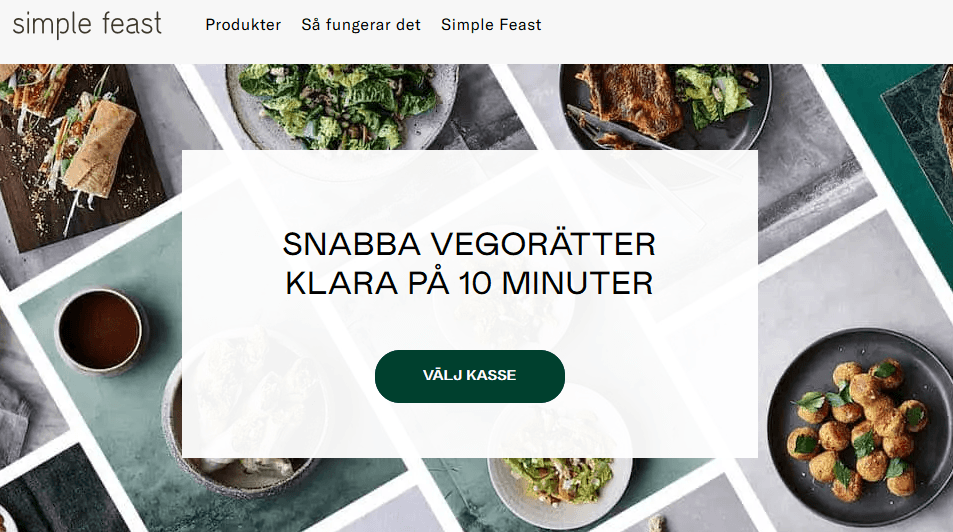 Testa Simple feast med rabattkod