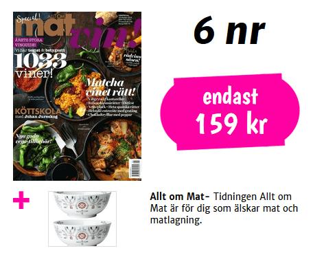 """Allt om mat och 2 vackra skålar från Rörstrand ur serien """"Swedish Grace Winter"""""""