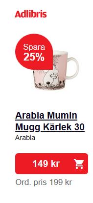 Kampanj på Arabia Mumin Mugg