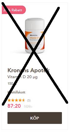 D-vitaminer nu Black week priser!