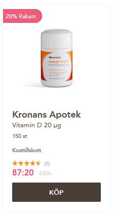 Glöm inte att inta D vitamin vintertid